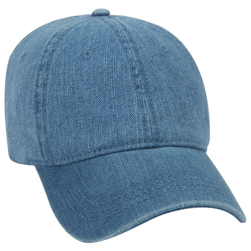 Otto Washed Pigment Dyed Denim Low Profile Style Caps