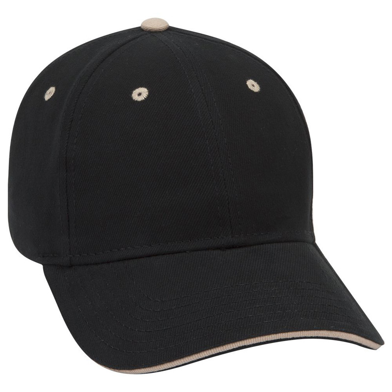 Otto Brushed Bull Denim Sandwich Visor Low Profile Style Caps