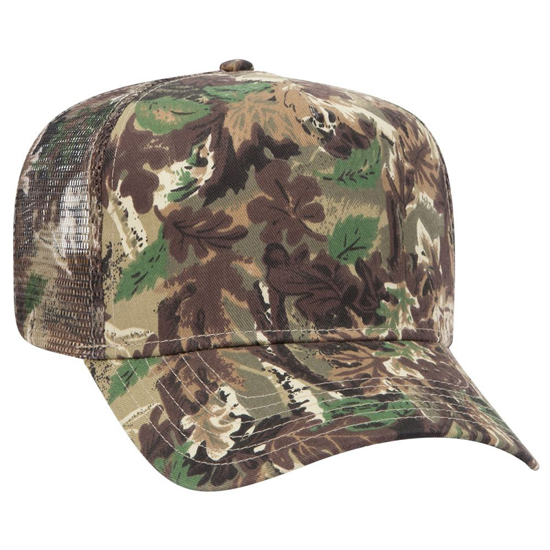 Otto Camouflage Cotton Twill Low Crown Golf Style Mesh Back Caps