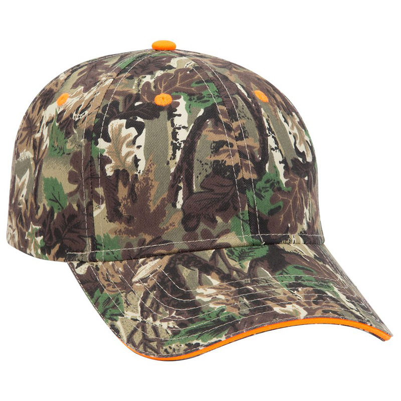 Otto Camouflage Cotton Twill Sandwich Visor Low Profile Style Caps