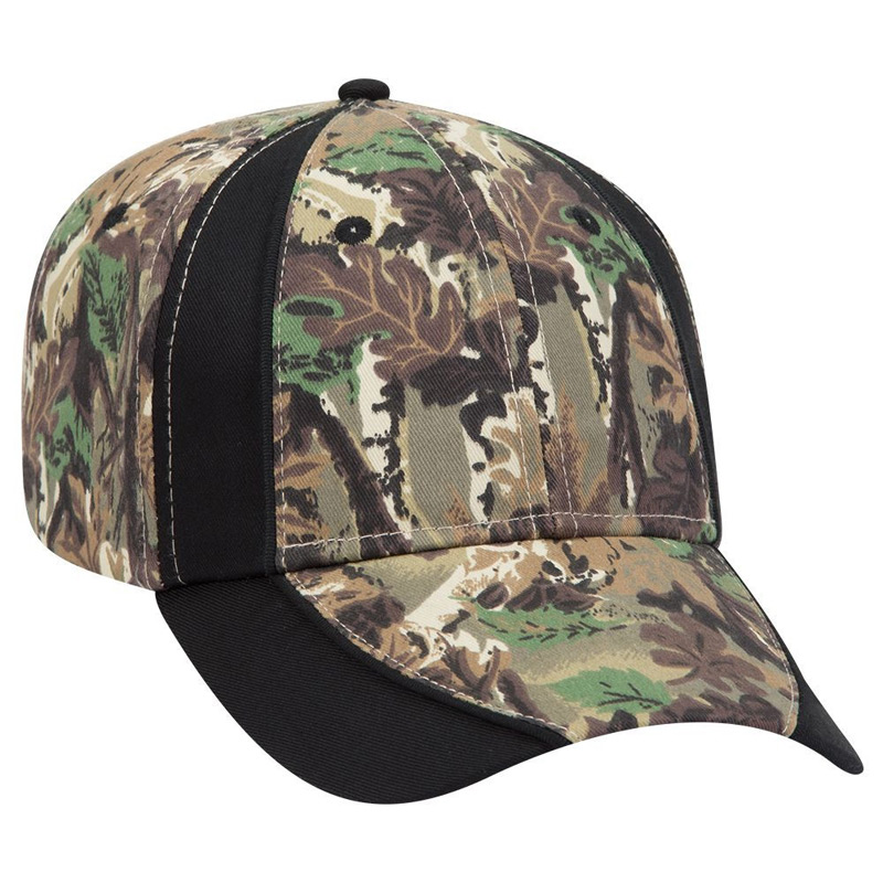 Otto Camouflage Piping Design Cotton Twill Low Profile Style Caps