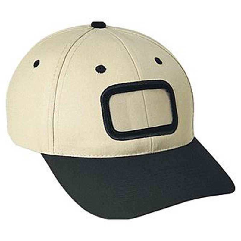 Otto Brushed Cotton Twill Non-Illuminated Frame Caps Classic Low Profile Style Caps Rectangle