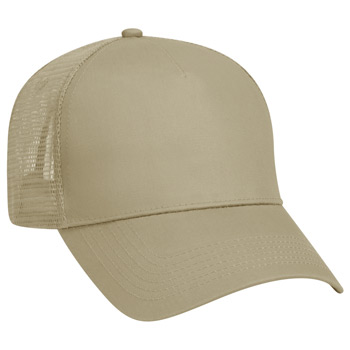 Otto Cotton Twill Five Panel Low Profile Style Mesh Back Caps