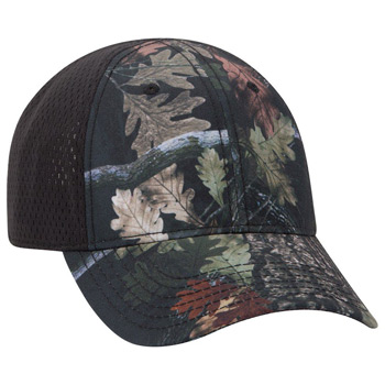 OTTO 6 Panel Low Profile Polyester Canvas Pro Mesh Back Cap