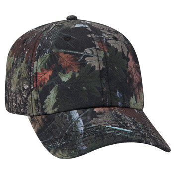 OTTO 6 Panel Camouflage Polyester Canvas Low Profile Cap