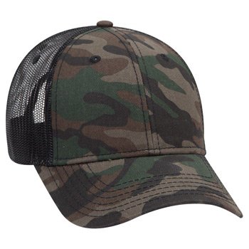 OTTO 6 Panel Low Profile Syle Camouflage Cotton Twill Mesh Back Cap