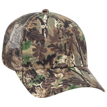 Otto Camouflage Cotton Twill Low Profile Style Mesh Back Caps