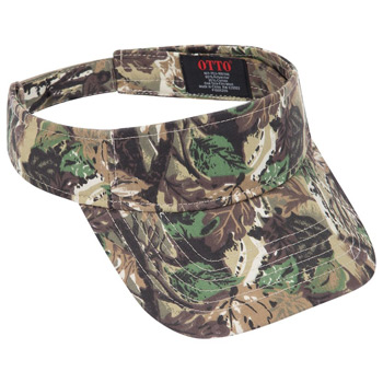 OTTO Camouflage Cotton Blend Twill Sun Visor