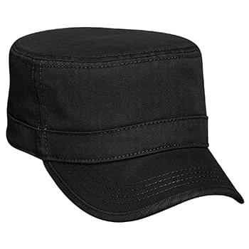 Otto Superior Garment Washed Cotton Twill With Binding Trim Visor Military Style Caps