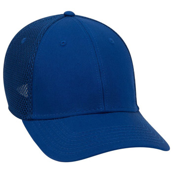 OTTO Cotton Twill w/ Stretchable Polyester Air Mesh Back OTTO FLEX Six Panel Low Profile Baseball Cap