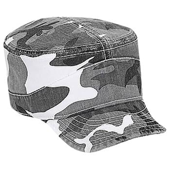 Otto Camouflage Superior Garment Washed Cotton Twill Flexible Soft Visor Military Style Caps