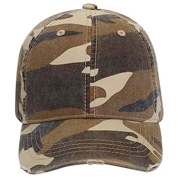 Otto Youth Camouflage Superior Garment Washed Cotton Twill Distressed Visor  Low Profile Style Caps 28bfc76f21c1