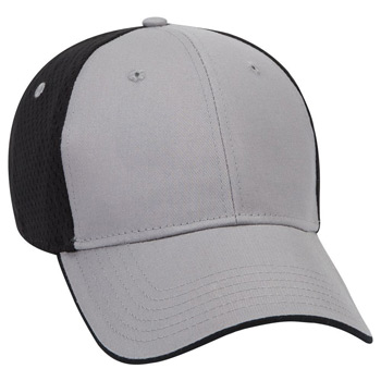 Otto Deluxe Cotton Twill W/ Polyester Pro Mesh Back Flipped Edge Visor Low Profile Style Caps