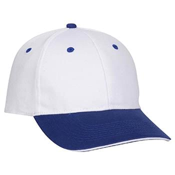 OTTO Ultra Fine Brushed Stretchable Superior Cotton Twill Sandwich Visor OTTO FLEX Six Panel Low Profile Baseball Cap
