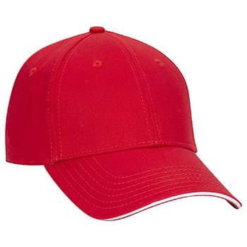 OTTO Stretchable Superior Cotton Twill Sandwich Visor OTTO FLEX Six Panel Low Profile Baseball Cap