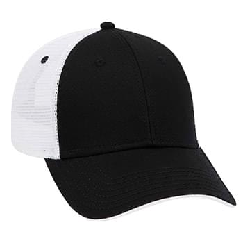 Otto Superior Cotton Twill Flipped Edge Visor Low Profile Style Mesh Back Caps