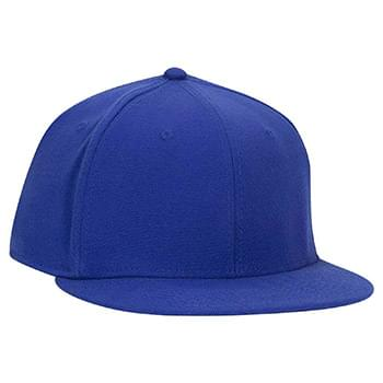OTTO Stretchable Wool Blend Square Flat Visor OTTO FLEX Six Panel Pro Style Baseball Cap