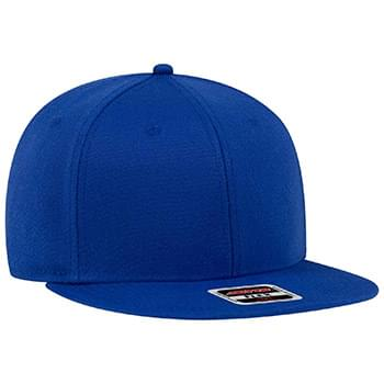OTTO Stretchable Wool Blend Twill Square Flat Visor OTTO FLEX Six Panel Pro Style Baseball Cap