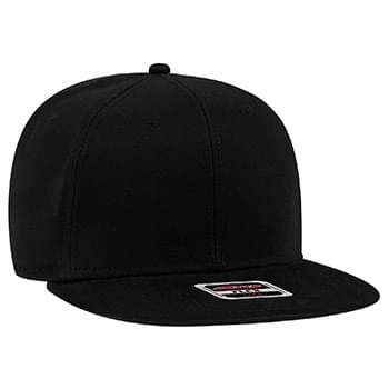 OTTO Ultra Fine Brushed Stretchable Superior Cotton Twill Square Flat Visor OTTO FLEX Six Panel Pro Style Baseball Cap