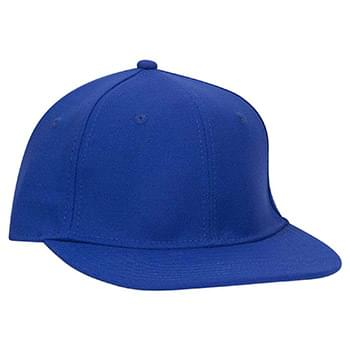 OTTO Stretchable Wool Blend Twill Round Flat Visor OTTO FLEX Six Panel Pro Style Baseball Cap