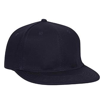 OTTO Stretchable Deluxe Cotton Twill Round Flat Visor OTTO FLEX Six Panel Pro Style Baseball Cap