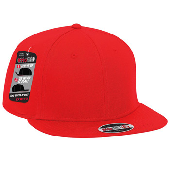 Otto Flip Superior Cotton Twill Flat To Full Flip Visor Pro Style Snapback Caps