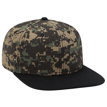 "OTTO Digital Camouflage Cotton Ripstop Square Flat Visor OTTO SNAP"" Six Panel Pro Style Snapback Hat"""