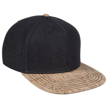 "OTTO Denim Cork Square Flat Visor OTTO SNAP"" Six Panel Pro Style Snapback Hat"""