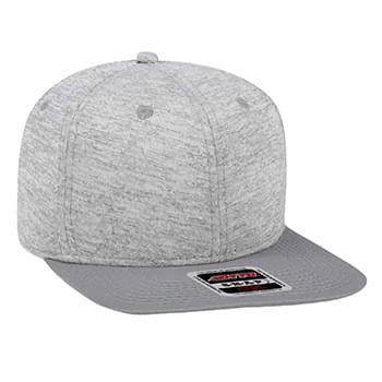 "OTTO Otto Snap"" 6 Panel Pro Style Jersey Knit w/Cotton Twill Square Flat Visor"""