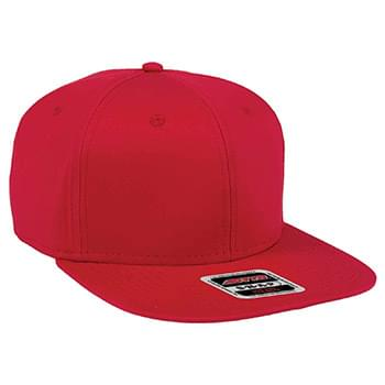 "OTTO Superior Combed Cotton Twill Square Flat Visor OTTO SNAP"" Six Panel Pro Style Snapback Hat"""
