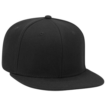 OTTO 6 Panel Pro Style Alternative Wool Twill Square Flat Visor Snapback hat