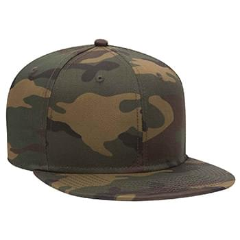 OTTO Otto Snap 6 Panel Pro Style Camouflage Cotton Blend Twill Snapback Hat