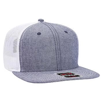 OTTO Otto Snap 6 Panel Pro Style Cotton Blend Chambray Snapback Hat