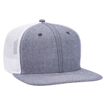39702e0e OTTO Otto Snap 6 Panel Pro Style Cotton Blend Chambray Snapback Hat