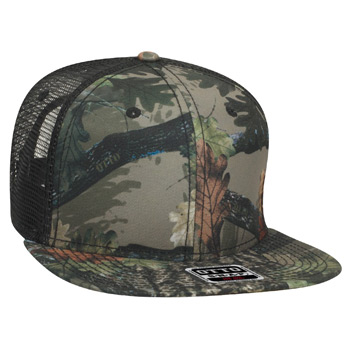 "OTTO Camouflage Superior Polyester Twill Square Flat Visor OTTO SNAP"" Six Panel Pro Style Snapback Hat"""