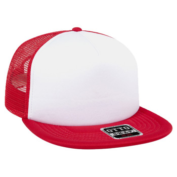 "OTTO Polyester Foam Front Square Flat Visor OTTO SNAP"" Five Panel Pro Style Mesh Back Trucker Snapback Hat"""