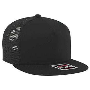 "OTTO Superior Cotton Twill Square Flat Visor w/ Superior Polyester Mesh Back OTTO SNAP"" Five Panel Pro Style Snapback Ha"