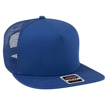 "OTTO Superior Cotton Twill Square Flat Visor OTTO SNAP"" Five Panel Pro Style Mesh Back Trucker Snapback Hat"""