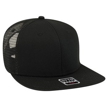 "OTTO Superior Cotton Twill Square Flat Visor OTTO SNAP"" Six Panel Pro Style Mesh Back Trucker Snapback Hat"""