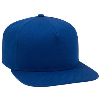 "OTTO Cotton Twill Square Flat Visor OTTO SNAP"" Five Panel Pro Style Snapback Hat"""