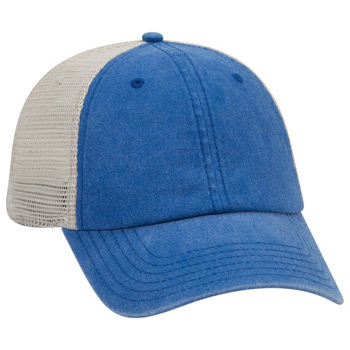 OTTO OTTO FLEX 6 Panel Low Profile Garment Washed Pigment Dyed Superior Cotton Twill w/ Soft Polyester Mesh Back Basebal