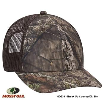 OTTO CAP Mossy Oak Camouflage Superior Polyester Twill 6 Panel Low Profile Mesh Back Baseball Cap