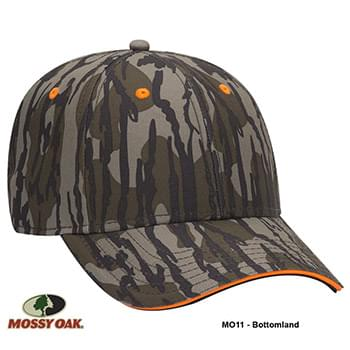 OTTO CAP Mossy Oak Camouflage Superior Polyester Twill Sandwich Visor 6 Panel Low Profile Baseball Cap