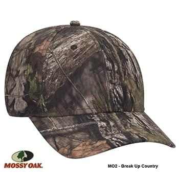 OTTO CAP Mossy Oak Camouflage Superior Polyester Twill 6 Panel Low Profile Baseball Cap