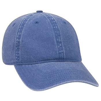 Otto Washed Pigment Dyed Cotton Twill Low Profile Style Caps