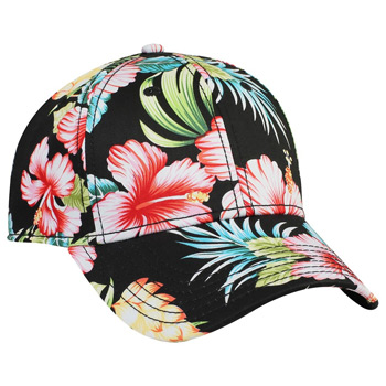 Otto Hawaiian Pattern Cotton Twill Low Profile Style Caps