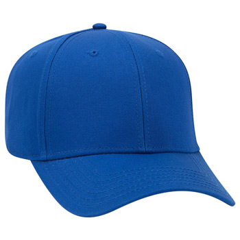 e39b144d421cbb OTTO 6 Panel Pro Style Superior Cotton Twill Cap Slight Curved Visor