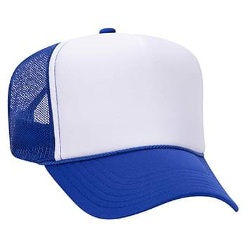 Otto Polyester Foam Front High Crown Golf Style Mesh Back Caps