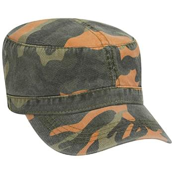 Otto Camouflage Superior Garment Washed Cotton Twill Military Style Caps