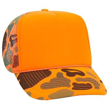Otto Camouflage Polyester Foam Front High Crown Golf Style Mesh Back Caps